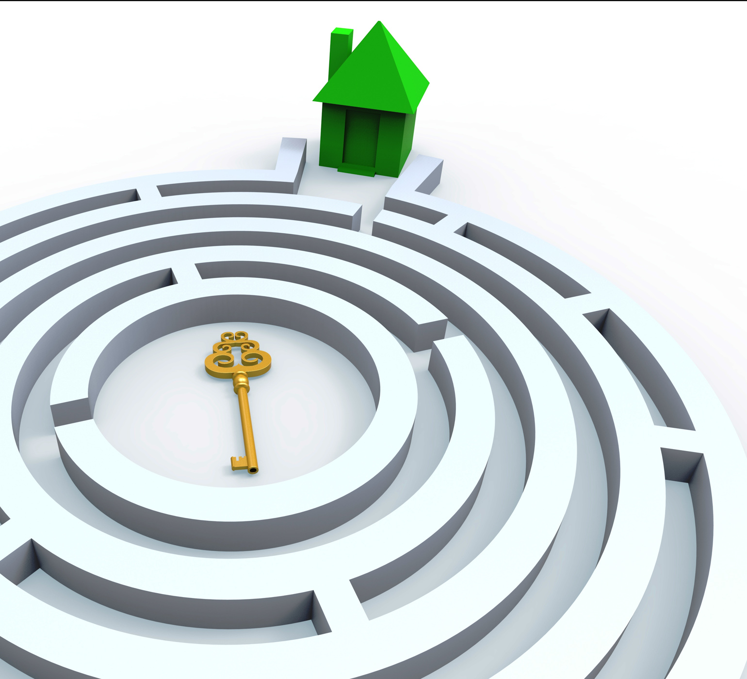 Key To Home In Maze Shows Property Search
